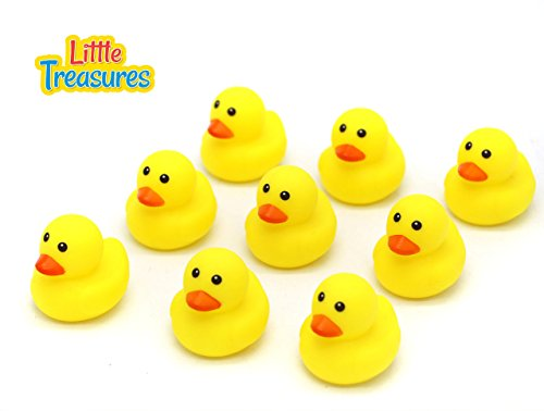 Little Treasures Rubber Duck Bath Toys Have Fun with the Yellow Ducklings in the Bath Tub, Perfect for 19 Plus Months Old Babies to Make Friends and Stories with Ducks in the Tub (Duck Squeaking Rubber)