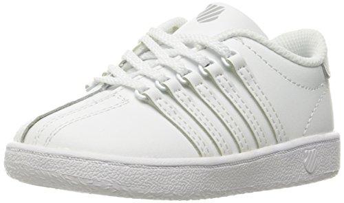 Kids White Children Shoe K-swiss - K-Swiss Kid's Classic VN Sneaker, White, 10 M US Toddler