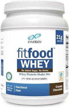 Xymogen Fit Food Whey Protein Shake Mix Creamy Chocolate 20.74 oz by Whey