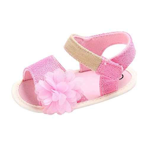 Sandalias De Bebe,BOBORA Prewalker Zapatos Primeros Pasos Para Bebe Hermosa Flor De Bebe Sandalias Princesa rosa