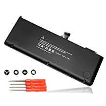 "BULL® Replacement 10.95V 77.5Wh New Laptop Battery for Apple A1382 A1286 (only for Core i7 Early 2011 Late 2011 Mid 2012) MacBook Pro 15"" Core i7, fit 661-5476 MC721 MD318 with two Free Screwdrivers"