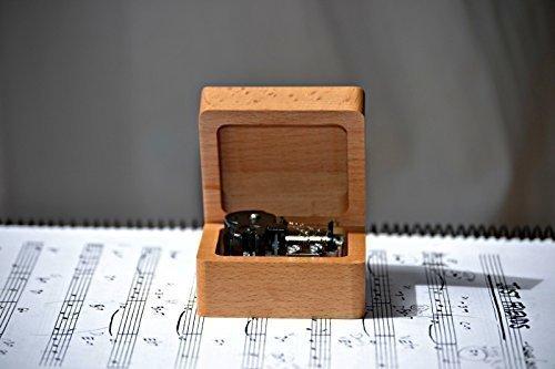 Caja de música de cuerda hecha con madera de calidad con la melodía * City of Stars * de la película * La La Land *. Regalo ideal para los amantes de ...