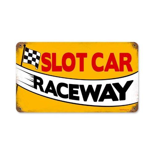 - Slot Car Raceway Retro Vintage Metal Sign Kids Room 8 X 14 Steel Not Tin