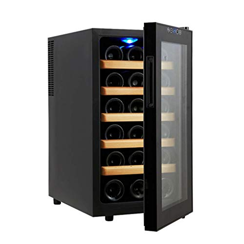 Thermostat Wine Cooler Home Small Ice Bar Electronic Wine Cooler Embedded Refrigerator Wine Cooler (Color : Black, Size : 345162.4cm)