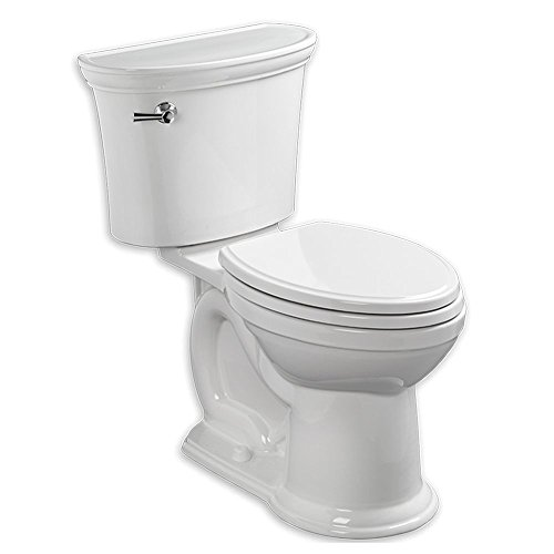 American Standard 205AA.104.020 Two-Piece 1.28 GPF Elongated Toilet without Seat, White