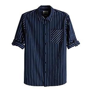 Scotch & Soda Herren Freizeithemd Regular Fit-Shirt with Sleeve Roll-up
