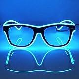 17943f1fb5 GCBTECH El Alambre Gafas LED Luz de Neón Alambre Novedad Shutter Gafas con  Control de vozpara