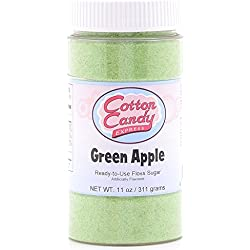 Cotton Candy Express Floss Sugar Candy, Green Apple, 11 Ounce