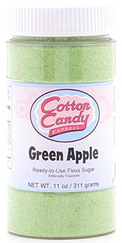 Cotton Candy Express Floss Sugar Candy, Green Apple, 11 (Apple Chocolate Sugar)