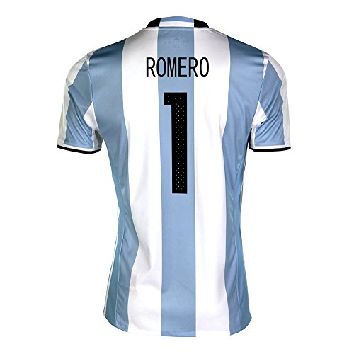 シャワー計算する舗装Romero #1 Argentina Home Soccer Jersey Copa America Centenario 2016/サッカーユニフォーム アルゼンチン ホーム用 ロメロ 背番号1