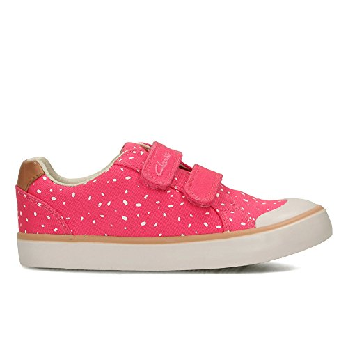 Clarks Zapatillas Niñas Comic Cool para Inf Pink Canvas 8qw184rn