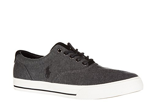 Grey Shoes Lauren Ralph Polo Cotton Mens Sneakers Vaughn Trainers RAavwxTv