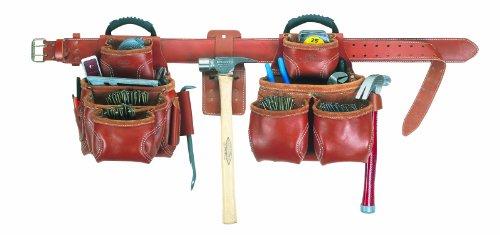 Custom Leathercraft 21452 Top-Of-The-Line Pro-Framer's Combo System, 19-Pocket, 4 Piece