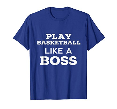 Mens MY BOSS Basketball T Shirts. Gifts Ideas for Players & Fans. XL Royal Blue