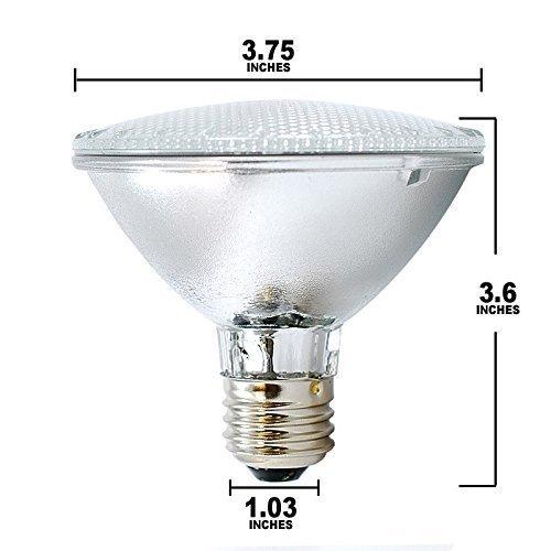 (Pack Of 6) 60PAR30/FL 120V - 60 Watt High Output (75W Replacement) PAR30 Flood Short Neck - 120 Volt Halogen Light Bulbs by KOR (Image #2)