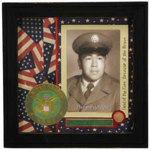 patriotic army military scrapbook picture frame shadowbox united states army - Military Picture Frames