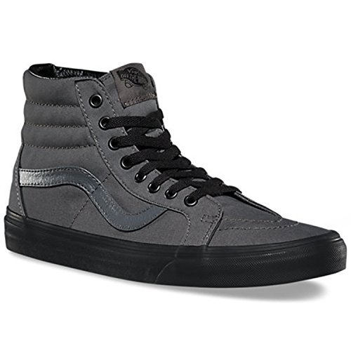 Vans Unisex Sk8-Hi Reissue (Black Gum) Pewter/Blk Skate Shoe 5.5 Men US/7 Women - Tops Hi Vans