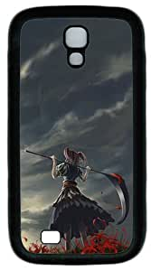 Samsung Galaxy S4 I9500 Case and Cover -Girl With Scythe And Safflower TPU Silicone Rubber Case Cover for Samsung Galaxy S4 I9500¨CBlack