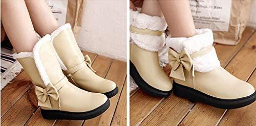 Beige Zapatos Mujer Doble Uso Estudiantes Algodón Para Xqy Algodón Invierno Gruesas Nieve De Cálidas Botas wqxIg6v