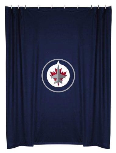 NHL Winnipeg Jets Hockey Locker Room Shower Curtain