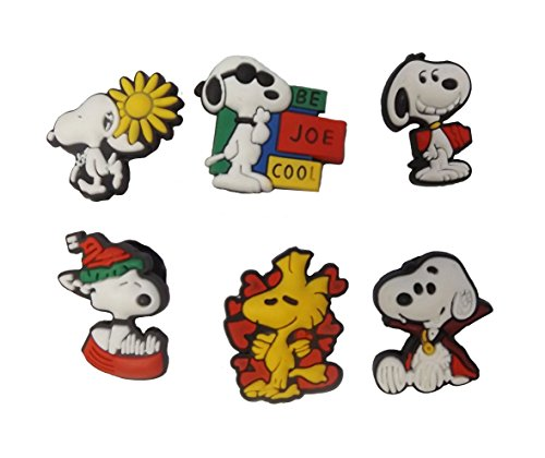 [AVIRGO 6 pcs Shoe Charms Set # 97-1] (Sally Brown Costume)