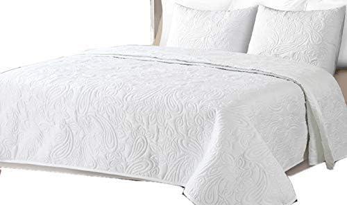 Colcha Boutí Liso Reversible+Cuadrantes BEGUR (Blanco, 180x260+1 cuadrante (para cama de 90)): Amazon.es: Hogar