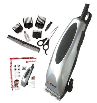 Alpina SF-5049 Professional 8 in 1 Hair Cutting and Grooming Clipper Set for Men- 220/240V - Alpine Oil