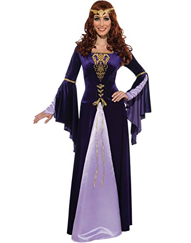 Fairy Queen Adult Costumes (Rubie's Costume Deluxe Guinevere With Headpiece, Purple/Black, Standard Costume)