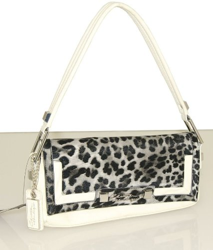 TEA Shoulder Leopard Animal Print Bag-white/grey Leopard (Christian Audigier Womens Leopard)