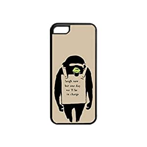 Banksy Art Monkey - Black Case - Turtles Unique Design Rubber Tpu Cover Case Silicone Case For iPhone 5C
