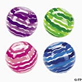 12 Inflatable Striped Beach Balls ~ Size 9'' (Colors & Styles May Vary)