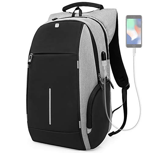 Laptop Backpack, Travel Computer Bag Anti Theft Computer Backpack with USB Charging Port, Waterproof College School Bag for Women and Men Fits 15.6 Inch Laptop and Notebook