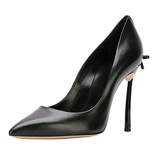 Stiletto Metal High onlymaker With Black Shoes black Sexy Toe heel Heels Women's Court Pointed Bowknot 0qIwCpH