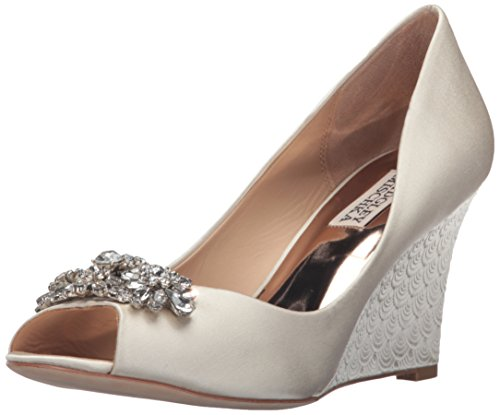 Badgley Mischka Women's Dara Wedge Sandal, Ivory, 8 M US by Badgley Mischka