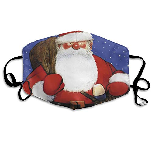 TDynasty Unisex Mouth Mask Cute Blushing Santa Claus Flu Germs Masks Can Be Washed Reusable for Outdoor Cycling