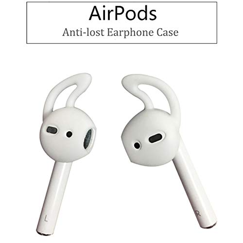 (New 1Pair Airpods Case Earphone Silicone Ear Cushions Anti-Shedding Painless in-Ear Eartips Ear Cap for Apple Airpods)