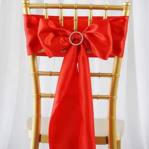 - Mikash 25 New Satin Chair Sash Bows Ties Wedding Bridal Party Supplies Decorations Sale | Model WDDNGDCRTN - 10261 |