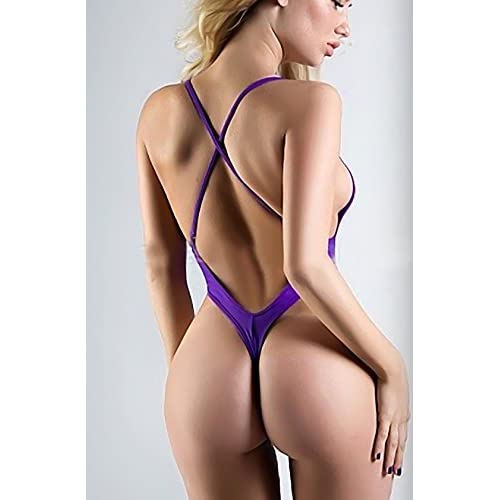 27d8e348a6a4d Lena Style women s purple micro bikini string biknis monokini extreme one  piece (X-Large