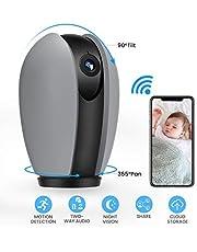 MECO ELEVERDE Camaras de Vigilancia WiFi Interior 1080p Cámara IP WiFi HD Rotativo para Bebé/Abuelos / Mascotas con Detección de Movimiento, Función de Alarma, App para iPhone iOS y Android