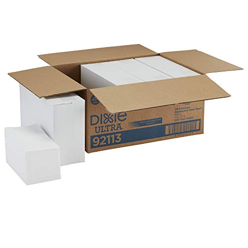 Dixie Ultra 1/6-Fold Linen Replacement Napkin by GP PRO (Georgia-Pacific), White, 92113, 200 Napkins Per Box, 4 Boxes Per Case (800 Total)
