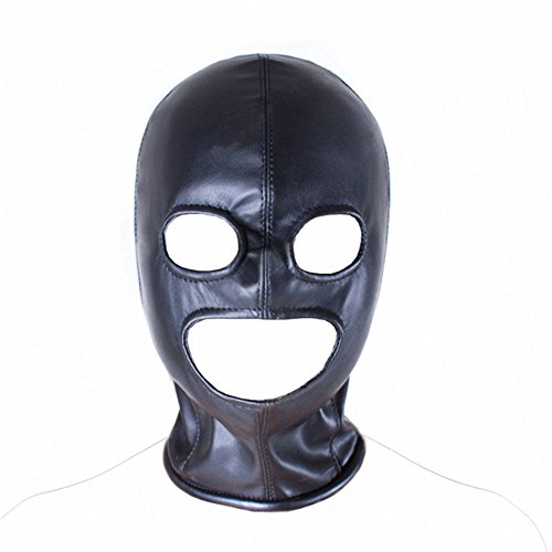 Price comparison product image Flirting Leather Mask Funny Game Collar Punishment Constrained Supplies Dew Eye Dew Mouth