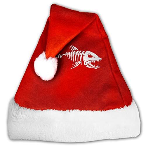 Fish Bones Halloween Customes Hat,Christmas Hat Velvet Santa Party Hats Festive Holiday