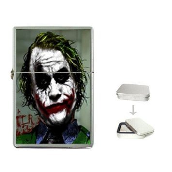 New Product Why So Serious Joker Bat-man Flip Top Cigarette Lighter + free Case Box