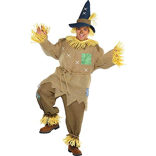 AMSCAN Mr. Scarecrow Halloween Costume for Men, Plus, with Included Accessories -
