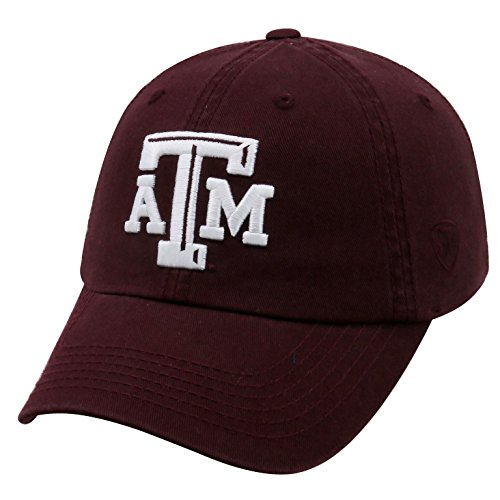 Top of the World NCAA-Cotton Crew-City-Adjustable Strapback-Hat Cap-Texas A&M Aggies-Maroon