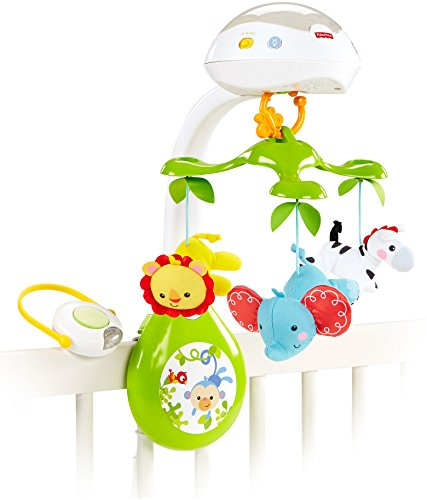 Fisher-Price Deluxe Projection Mobile, Rainforest Friends 3-in-1 ()