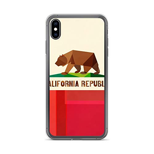 iPhone Xs Max Case Anti-Scratch Creature Animal Transparent Cases Cover California Flag Animals Fauna Crystal Clear (Best Hikes In Northern Vermont)