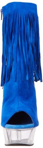 clr 1019 Pleaser Suede Blue Polacchine Royal Delight Donna 0wwv5