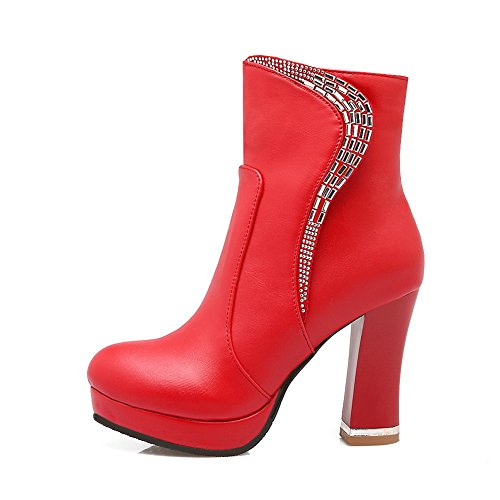 AdeeSu Womens Platform Dress Slip-Resistant Comfort Red Microfiber Boots SXC01815-6 UK XiCPA9Bl