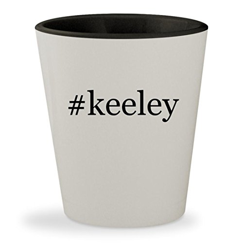 Boss Bd2 Keeley (#keeley - Hashtag White Outer & Black Inner Ceramic 1.5oz Shot Glass)